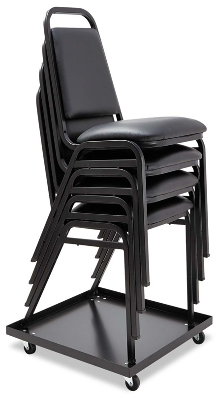 chair dolly. alera® stacking chair dolly - 22-1/2w x 22-1/2d black [alesccart-fs-nat] a