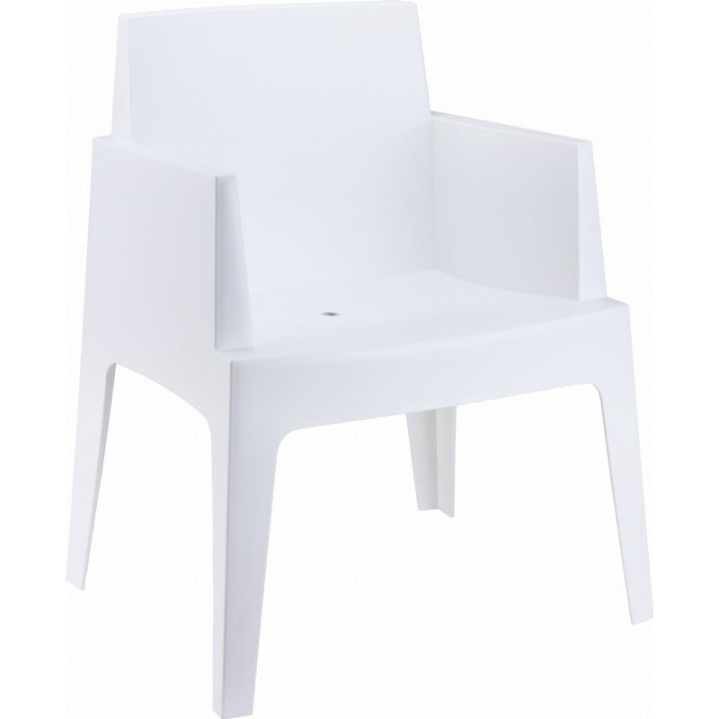 Box resin outdoor stackable dining arm chair white isp058 whi fs cmp - White resin stacking chairs ...