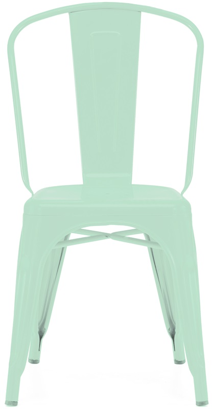 Dreux Matte Light Peppermint Stackable Steel Armless Side Chair   Set Of 4  [LS 9000 MTLPEP DLM]