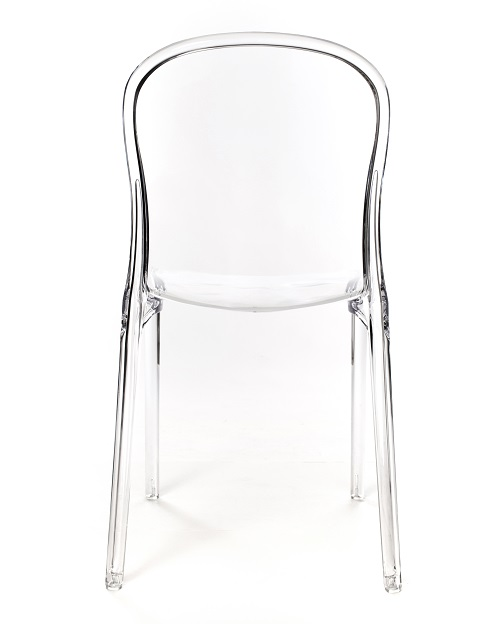 Elegant Genoa Polycarbonate Dining Chair   Clear [RPC GENOA CL CSP]