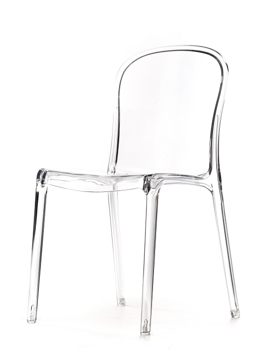 Delightful Genoa Polycarbonate Dining Chair   Clear [RPC GENOA CL CSP]