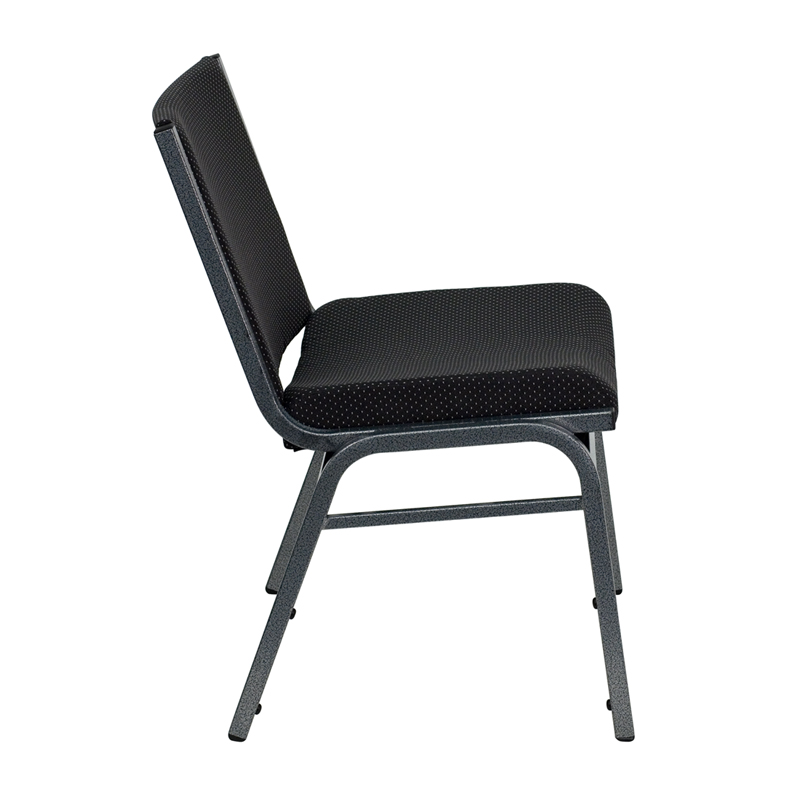 Nice HERCULES Series Big U0026 Tall 1000 Lb. Rated Black Fabric Stack Chair  [XU 60555 BK GG]
