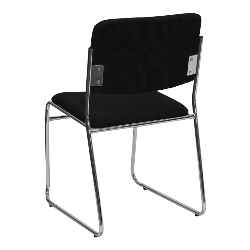 series 1000 lb. capacity black fabric high density stacking chair