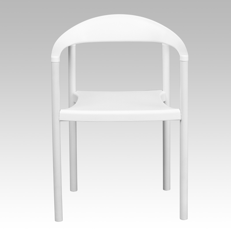 series 1000 lb. capacity white plastic cafe stack chair [rut-418