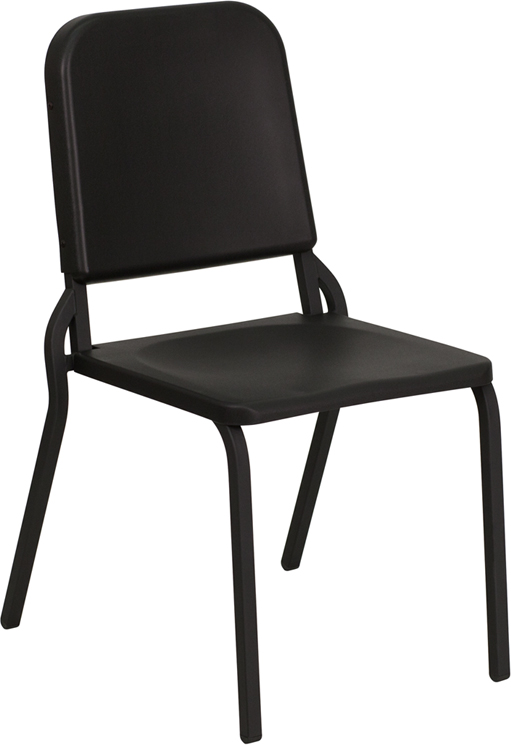 Exceptional HERCULES Series Black High Density Stackable Melody Band/Music Chair  [HF MUSIC GG]
