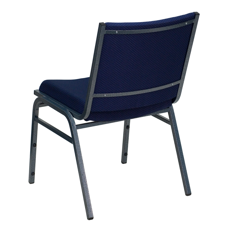 HERCULES Series Heavy Duty Navy Blue Dot Fabric Stack Chair  [XU 60153 NVY GG]