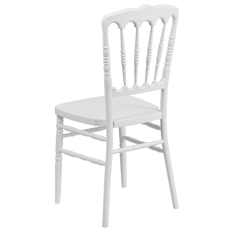 Hercules series white resin stacking napoleon chair with free cushion le l 8 wh gg - White resin stacking chairs ...