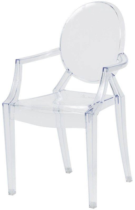 kids clear baby ghost chair with arms rpcghost babyarmscsp
