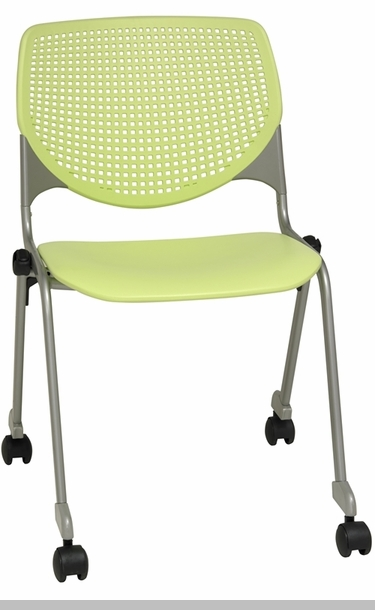 Ghost Chair Armless 2300 KOOL Series Stacking Poly Silver Steel Frame Armless ...