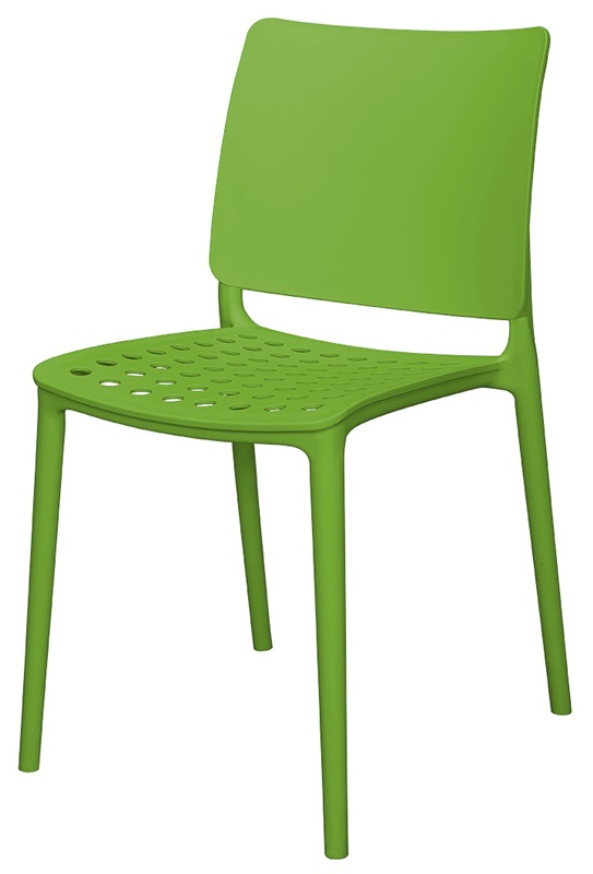Captivating Marcay Resin Outdoor Stackable Armless Side Chair   Green  [SC 2604 162 GRN SCON]