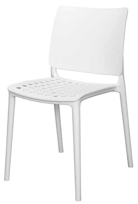 Wonderful Marcay Resin Outdoor Stackable Armless Side Chair   White  [SC 2604 162 WHT SCON]