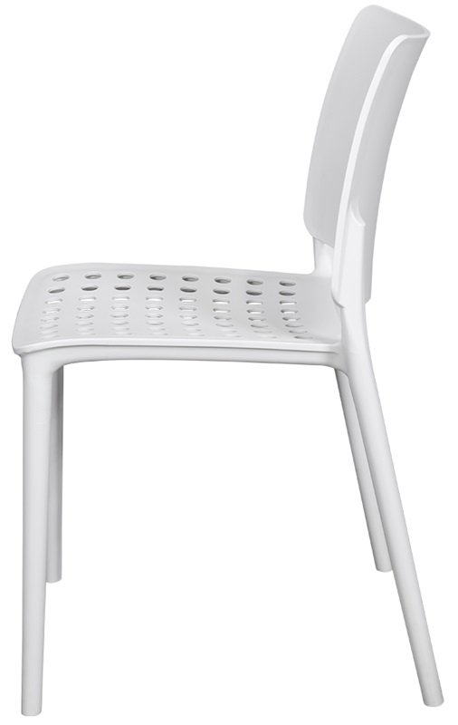Good Marcay Resin Outdoor Stackable Armless Side Chair   White  [SC 2604 162 WHT SCON]