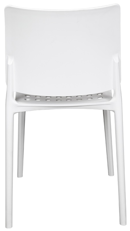 Marcay Resin Outdoor Stackable Armless Side Chair   White  [SC 2604 162 WHT SCON]