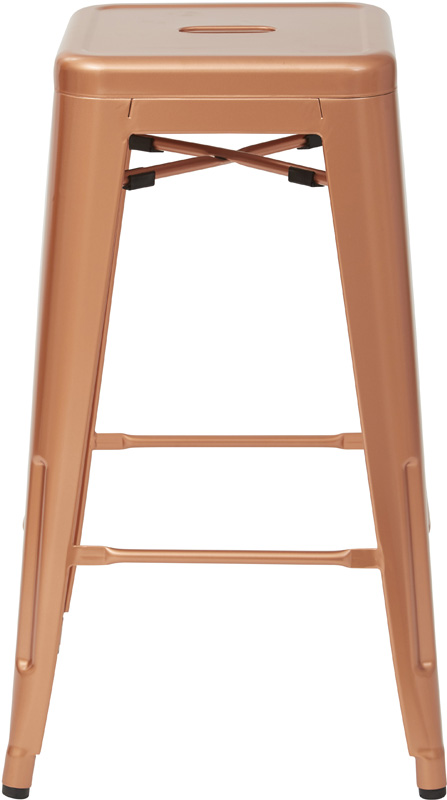 osp designs bristow backless metal barstools set of 2 copper