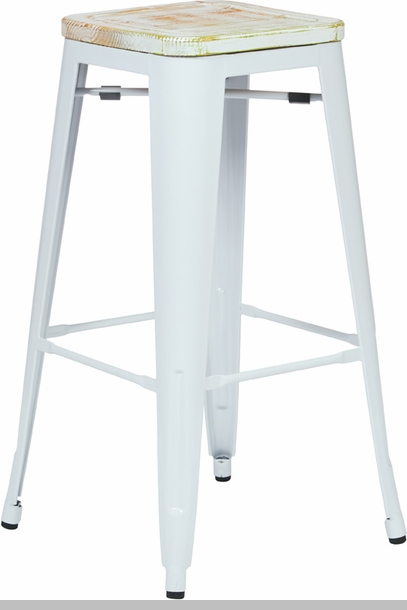 OSP Designs Bristow 30u0027u0027 Metal Barstool with Wood Seat - Set of 2 - Antique White and Vintage Pine Irish [BRW313011A2-C305-FS-OS]  sc 1 st  StackChairs4Less & OSP Designs Bristow 30u0027u0027 Metal Barstool with Wood Seat - Set of 2 ... islam-shia.org