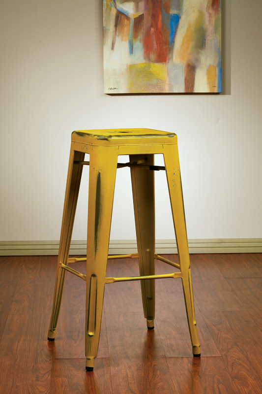 OSP Designs Bristow 30u0027u0027 Backless Antique Metal Barstools - 2-Pack - Antique Yellow Finish [BRW3030A2-AY-FS-OS] & Designs Bristow 30u0027u0027 Backless Antique Metal Barstools - 2-Pack ... islam-shia.org