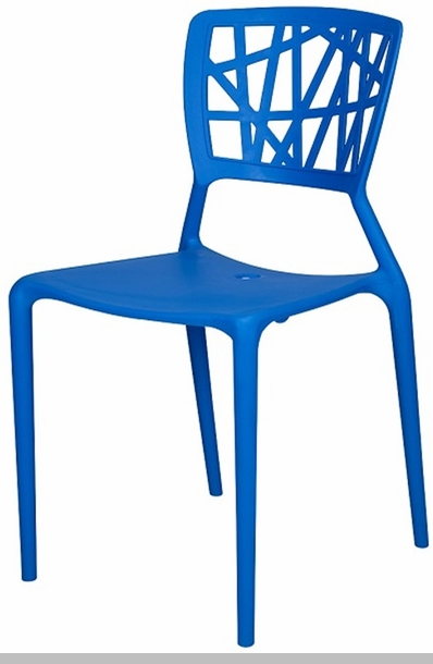 Phoenix Outdoor Stackable Armless Side Chair   Blue [SC 2602 162 BLU SCON]
