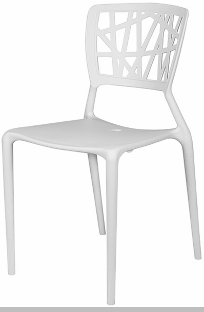 Phoenix Outdoor Stackable Armless Side Chair  White [SC 2602 162 WHT SCON]
