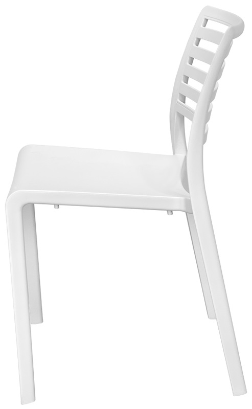 Savannah Outdoor Stackable Armless Side Chair   White [SC 2603 162 WHT SCON]