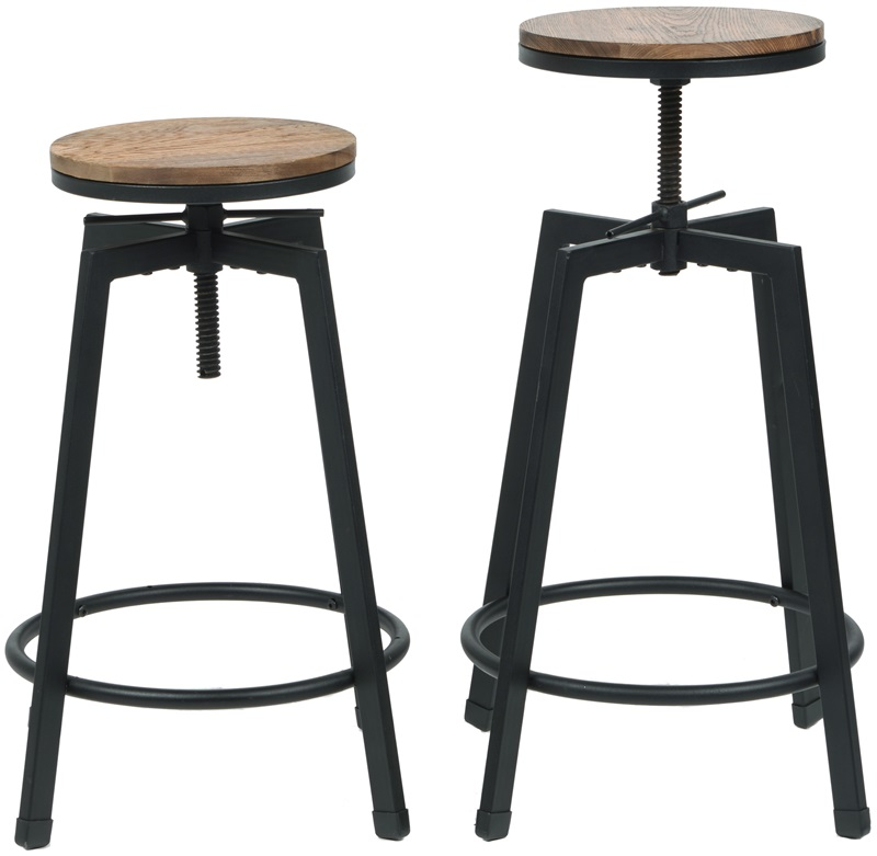 Vintage Industrial Stackable Swivel Backless Barstool with Wood Seat - Set of 2 [MSW-100-SWIVEL-STOOL-CSP]  sc 1 st  StackChairs4Less & Industrial Stackable Swivel Backless Barstool with Wood Seat - Set ... islam-shia.org