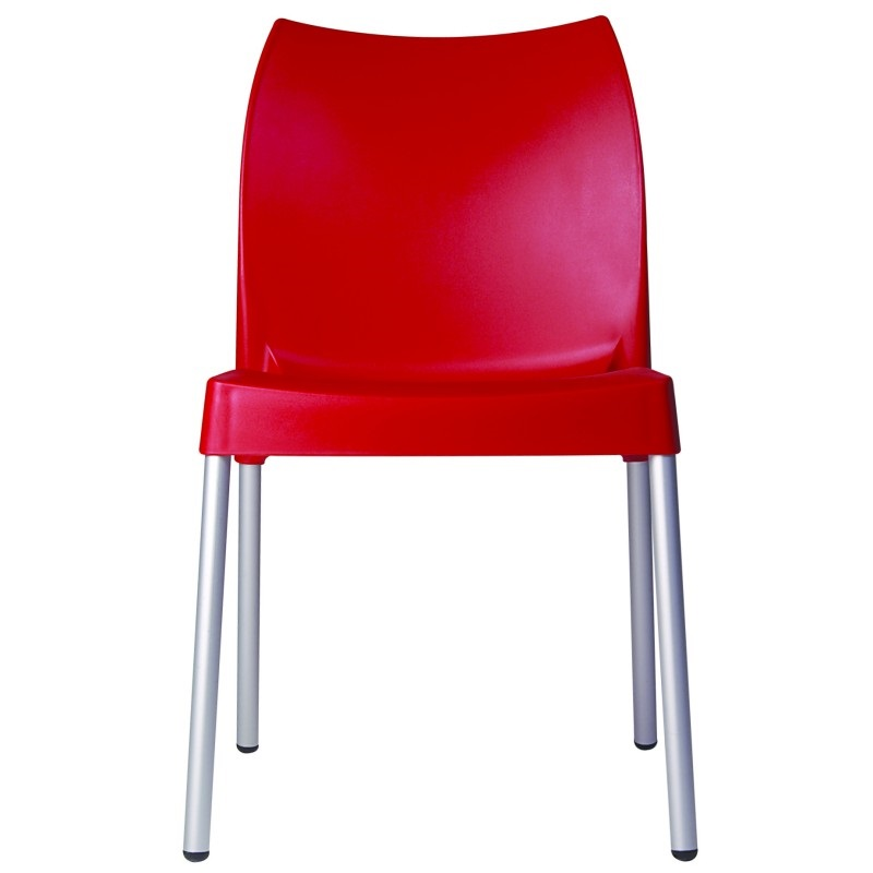 Vita Resin Outdoor Dining Chair Red Isp049 Red Fs Cmp
