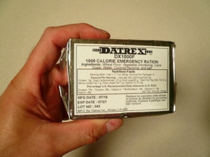 DATREX 1000 calorie - Emergency Food Bar - pocket size
