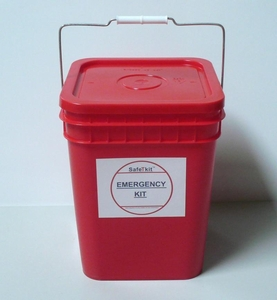 Emergency Food and Water Bucket