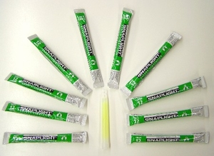 12 hour Glow Sticks -green - 10 pcs bulk pack