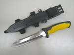 Survival Knife - Yellow Safety Handle and Saw
