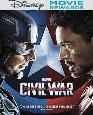 200 DMR Points Captain America Civil War 3D Blu-ray ( 200 Disney Rewards Points Only )