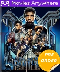 Black Panther HD UV or iTunes Code (PRE-ORDER WILL EMAIL ON OR BEFORE 5-15-18 AT NIGHT)
