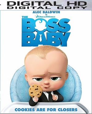 Boss Baby HD Ultraviolet or iTunes Code (PRE-ORDER WILL EMAIL ON OR BEFORE 7-25-17 AT NIGHT)
