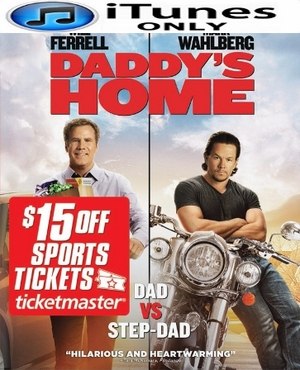 Daddy's Home HD iTunes Digital Copy Code