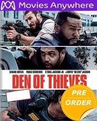 Den of Thieves HD UV or iTunes Code via MA     (PRE-ORDER WILL EMAIL ON OR BEFORE 4-24-18 AT NIGHT)