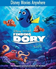 Finding Dory HD DMA Disney Movies Anywhere Code, Vudu or iTUNES