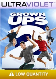 Grown Ups 2 SD Digital Ultraviolet UV Code