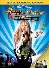 Hannah Montana Miley Cyrus Best of Both Worlds Concert Tour DVD  Movie