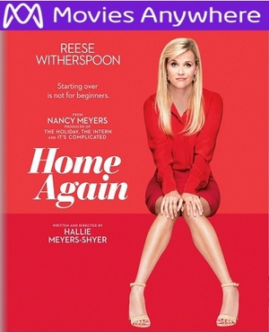 Home Again HD Ultraviolet UV or iTunes Code VIA Movies Anywhere