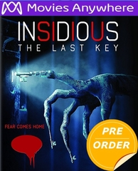 Insidious: The Last Key HD UV or iTunes Code (PRE-ORDER WILL EMAIL ON OR BEFORE 4-3-18 AT NIGHT)