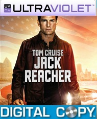Jack Reacher SD Ultraviolet UV Code + Digital Copy