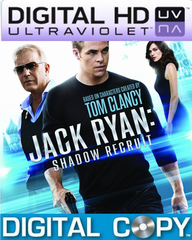 Jack Ryan Shadow Recruit HD Ultraviolet UV Code + Digital Copy