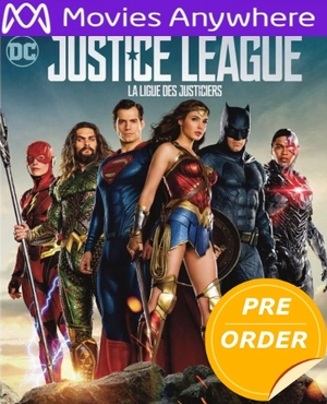Justice League HD UV or iTunes Code via MA (PRE-ORDER RELEASE DATE NOT YET ANNOUNCED WILL EMAIL ON OR BEFORE BLU-RAY RELEASE DATE LATE FEBRUARY EARLY MARCH )