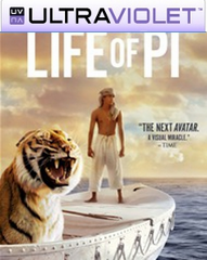 Life of Pi  SD UltraViolet UV Code