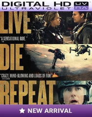 Live Die Repeat Edge of Tomorrow HD Ultraviolet UV Code