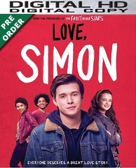 Love, Simon HD UV or iTunes Code     (PRE-ORDER WILL EMAIL ON OR BEFORE 6-12-18 AT NIGHT)