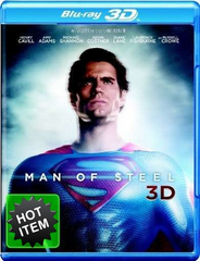 Man Of Steel 3D Blu-ray (USED)