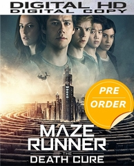 Maze Runner: Death Cure HD UV or iTunes Code (PRE-ORDER WILL EMAIL ON OR BEFORE 4-24-18 AT NIGHT)