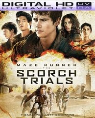 Maze Runner The Scorch Trials HD Digital Ultraviolet UV Code or iTunes