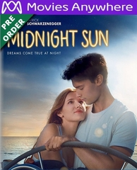 Midnight Sun HD UV or iTunes Code Via MA     (PRE-ORDER WILL EMAIL ON OR BEFORE 6-19-18 AT NIGHT)
