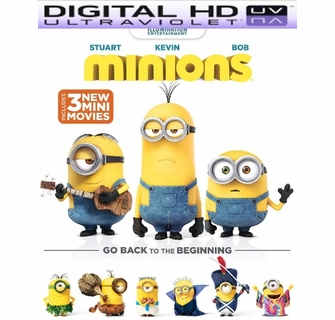 Minions HD Digital Ultraviolet UV Code For Sale, Buy Minions UV Code